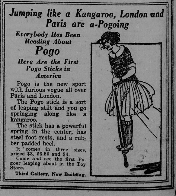 the history of the pogo stick Your great-grandmother may have used a pogo stick as a young girl, because  these toys have been around for a long time they were invented by george b.