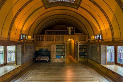 Frank Lloyd Wright playroom. Photograph: James Caulfield