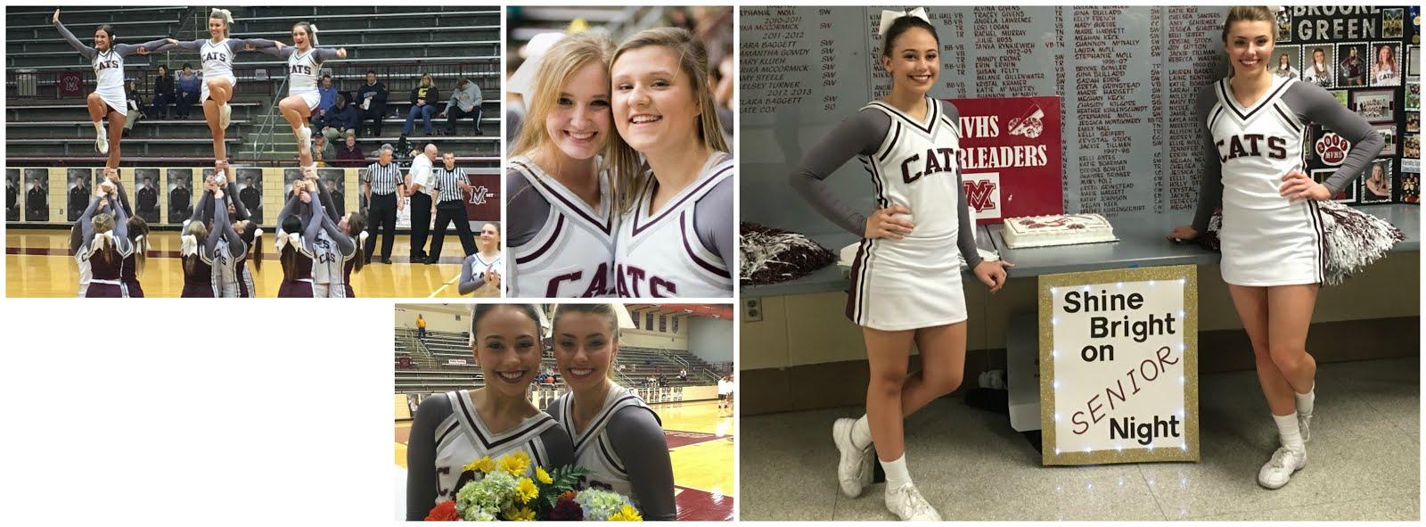 Mount Vernon High School cheerleaders showing off their new uniforms.