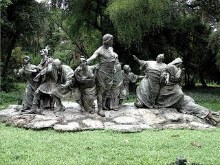 Alegoria de Bronze no Jardim Botânico, Buenos Aires