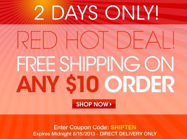 Avon Free Shipping on $10 Orders code SHIPTEN August 15, 2013
