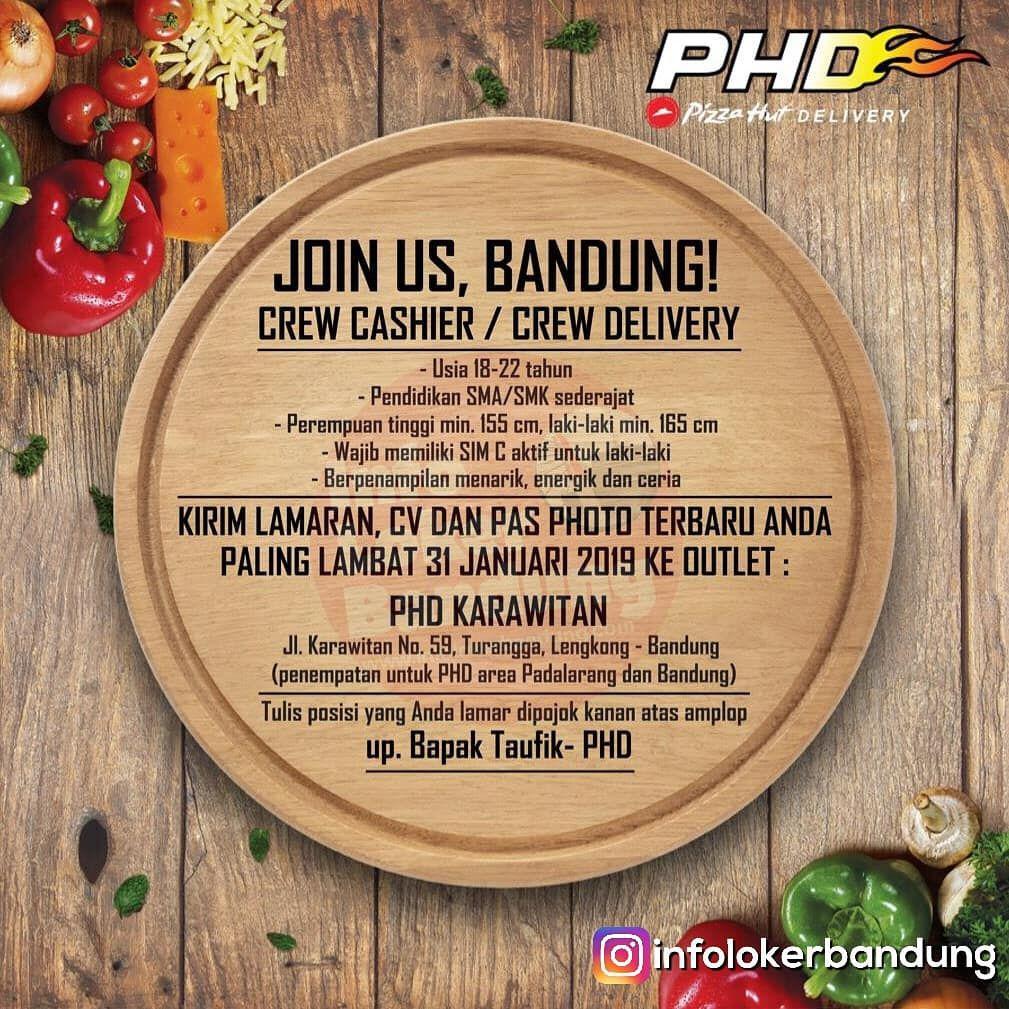 Lowongan Kerja Pizza Hut Delivery (PHD) Bandung Januari 2017