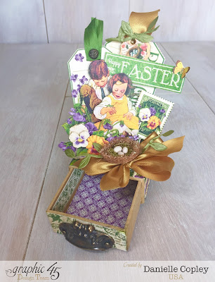 Graphic 45 Matchbook Box, Easter, Children's Hour May Art Ribbon