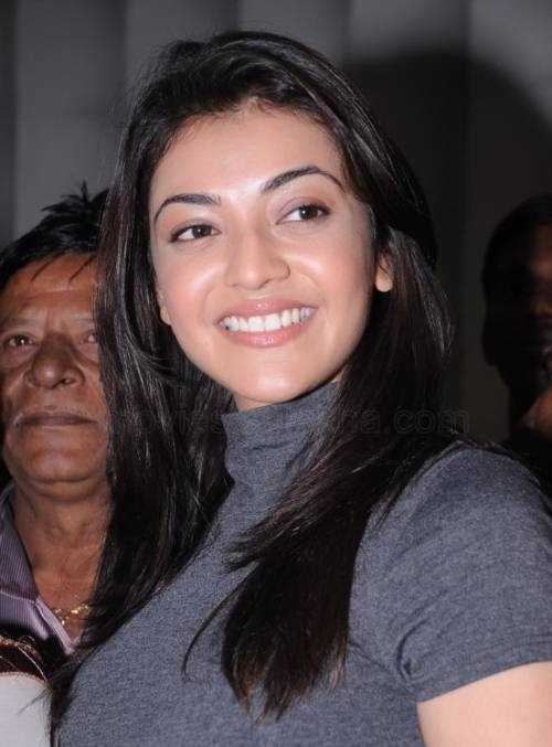Kollywood Actress Kajal Agarwal Stills In Black Dress At Saloon Inaugurates