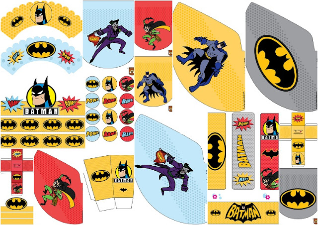 Batman Retro: Free Printable Kit.