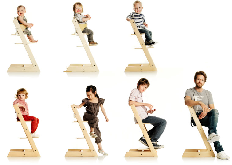 Dise o para ni os tripp trapp by stokke dg arquitecto for Chaise haute stokke