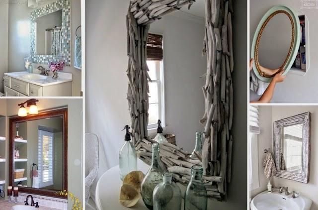 50+ Ιδιαίτερες ιδέες για τον Καθρέφτη του Μπάνιου