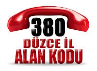 0380 Düzce telefon alan kodu