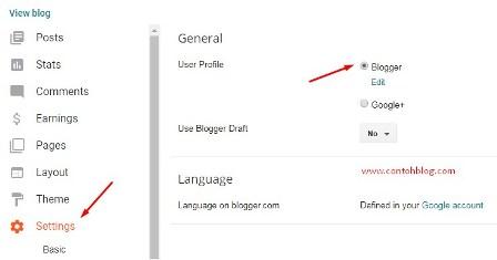 Google Plus Menjadi Blogger Profile