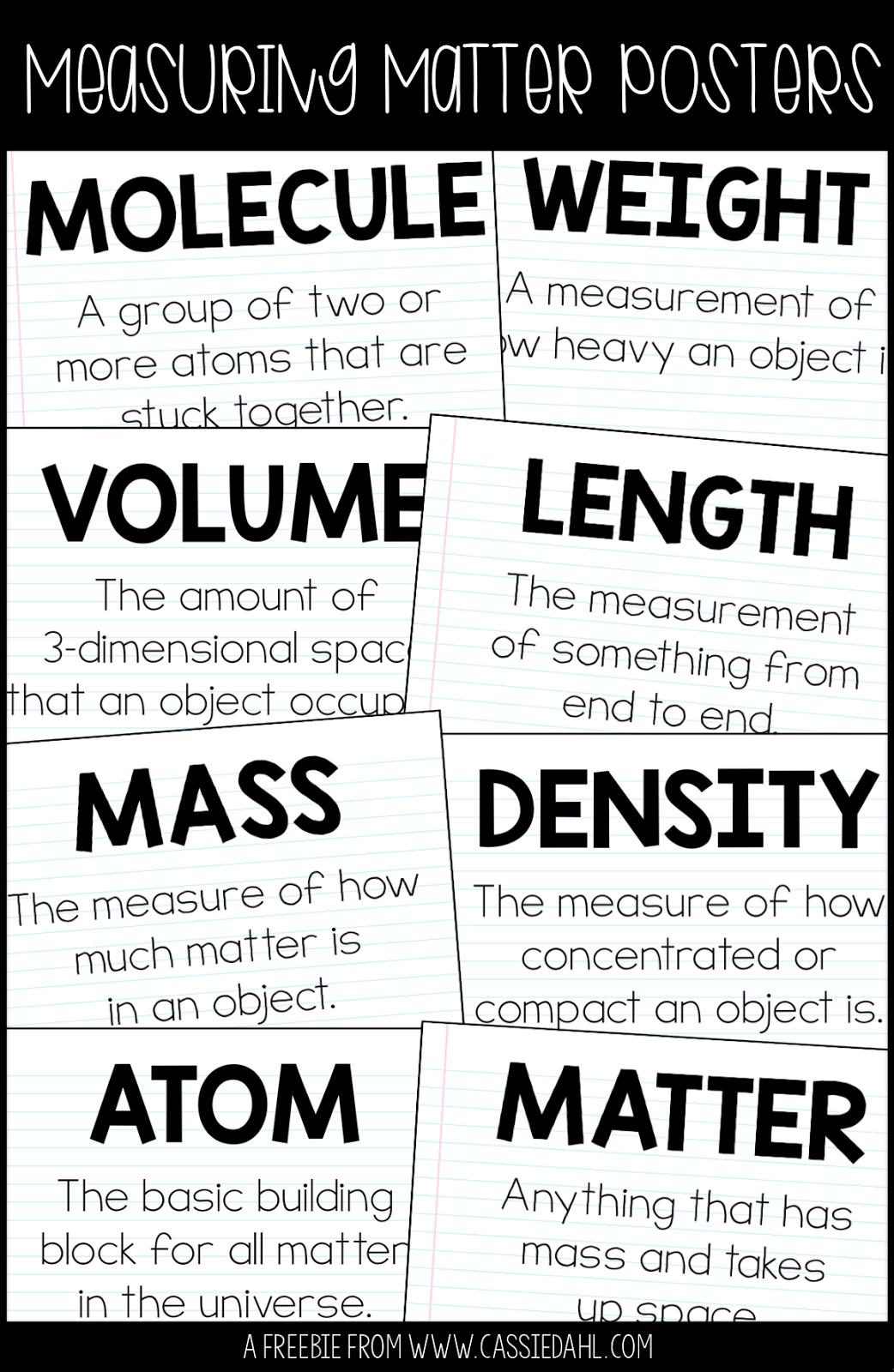 Measuring Matter Centers