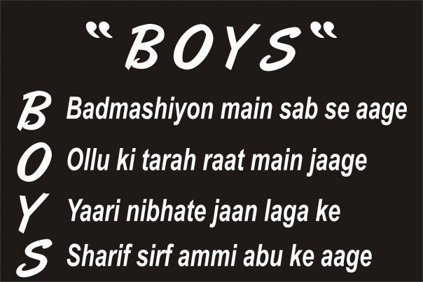 Funny Words: Boys Name Full Form