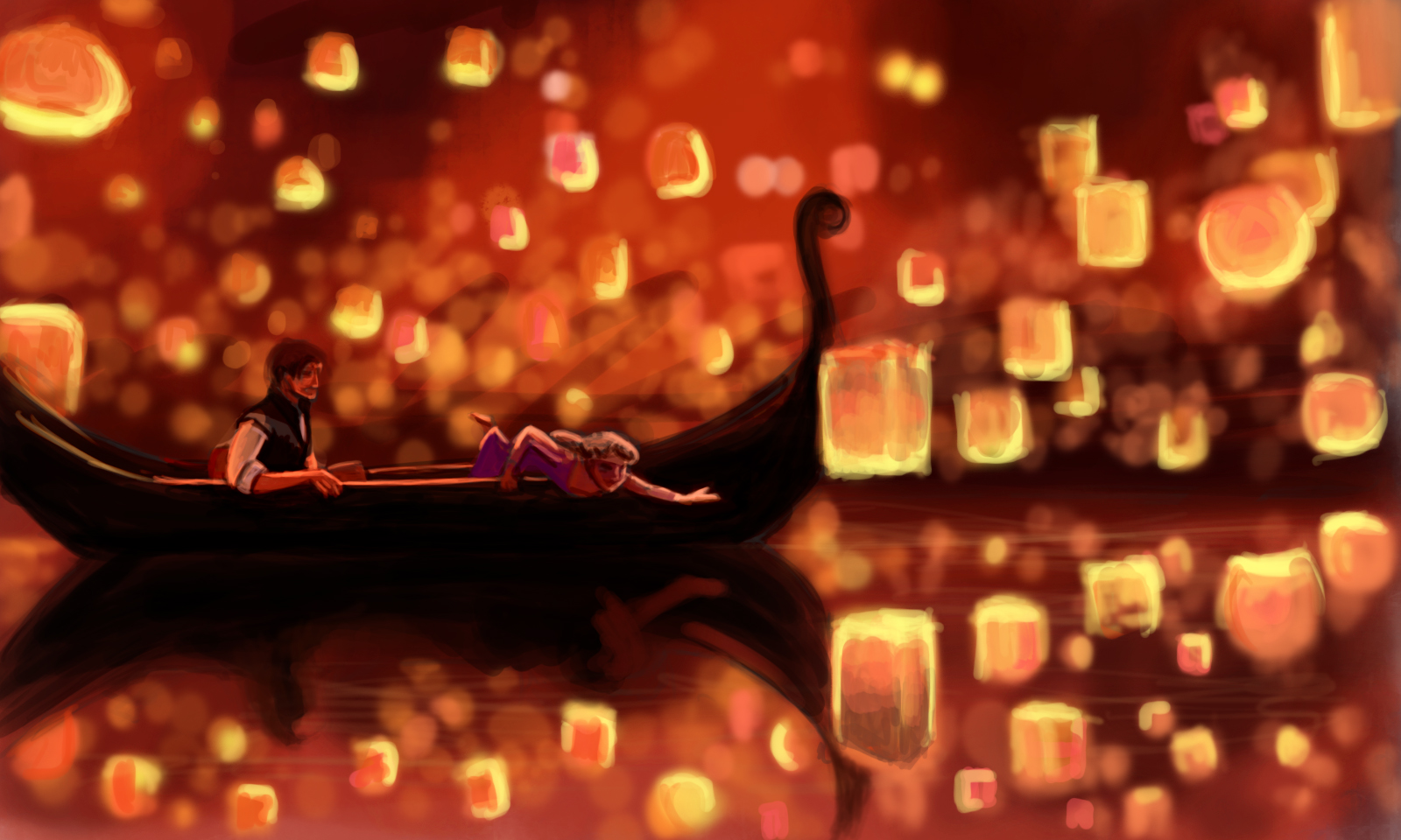 ... Tangled Lantern Wallpapers: Disney Cast: Algumas Fanarts Serenas ...
