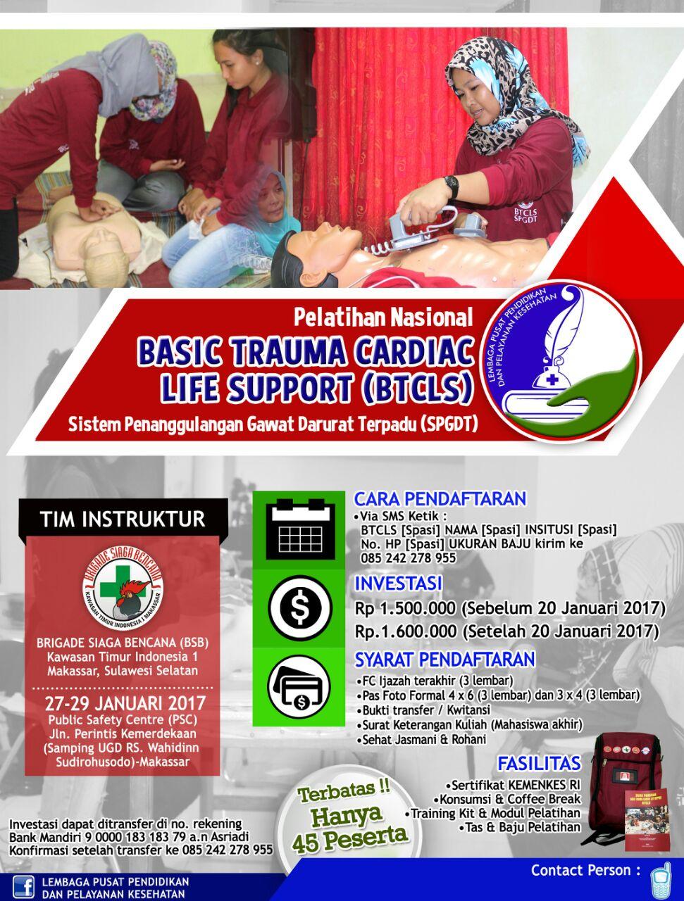 Btcls Spgdt Tujuan Pelatihan Btcls Bagi Perawat