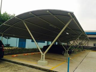 rangka atap lengkung