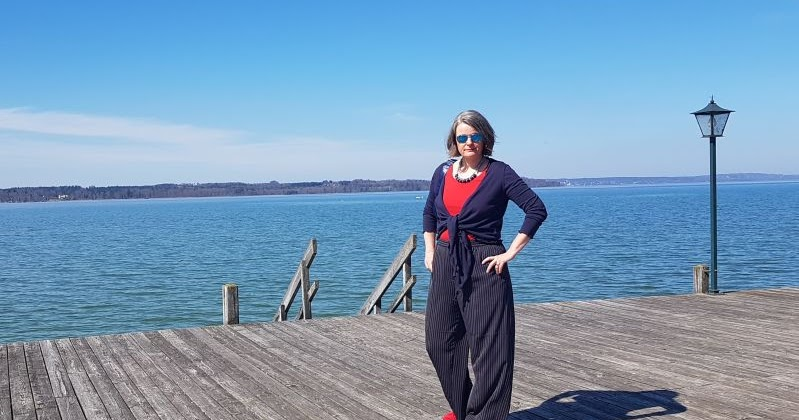 Schuhe für billige heiß-verkauf echt Heiß-Verkauf am neuesten Fashion & Lifestyle] Maritim in Blau-Rot. In Marlenehose und ...