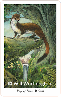 Wilwood Tarot Page of Bows Stoat