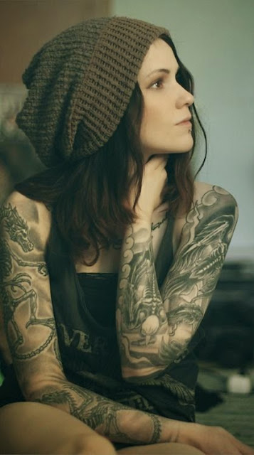 ♥ ♫ ♥ girl tattoo sleeve  ♥ ♫ ♥