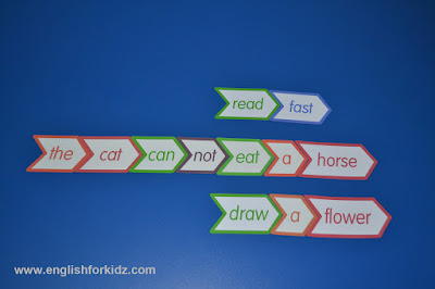 silly sentences with sight words, game for kids