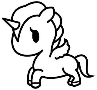 Imágenes de Unicornios para dibujar y colorear pegasos infantiles