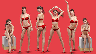 i13 Flirt Female Pose Collection for the Genesis 3 Female