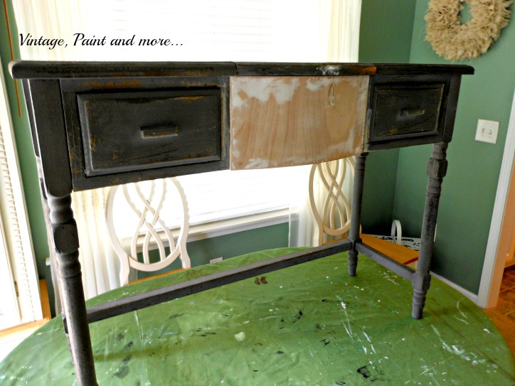 Vintage, Paint and more... old vanity refurbished with new wood front