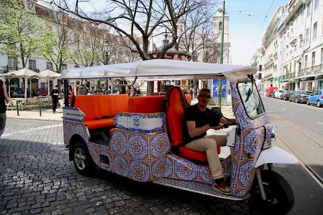 tuk tuk  Lisbon, Portugal:  Pic: Keratin Rodgers/msmarmitelover