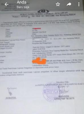Diduga Penipuan Dan Penggelapan Ms Tuding Ah Dalang Perkara