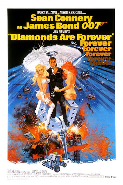 Poster of James Bond Diamonds Are Forever 1971 720p Hindi BRRip Dual Audio