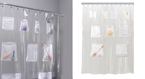 1 Pockets Help Keep Your Shower Clutter Free 2 Lets You Easily Add Weight To Curtain In Place 3 100 PEVA 70x72