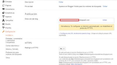 Añadir dominio personalizado blogger
