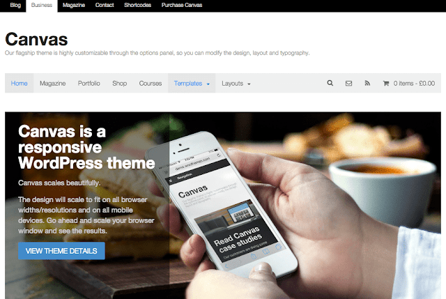 WordPress Ecommerce Themes - Canvas