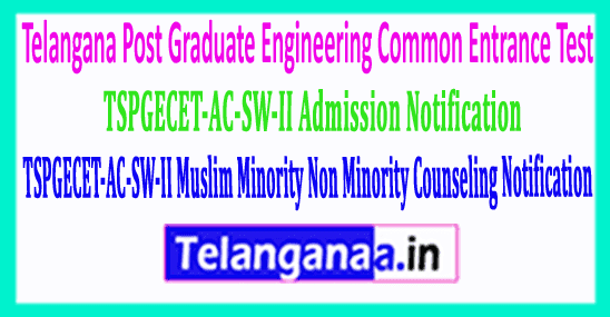 TSPGECET-AC-SW-II Muslim Minority Non Minority Counseling Notification