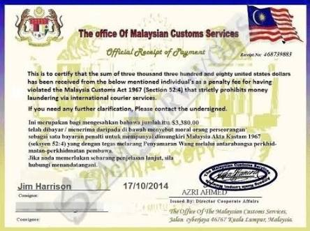 The office of Malaysian Customs Service.