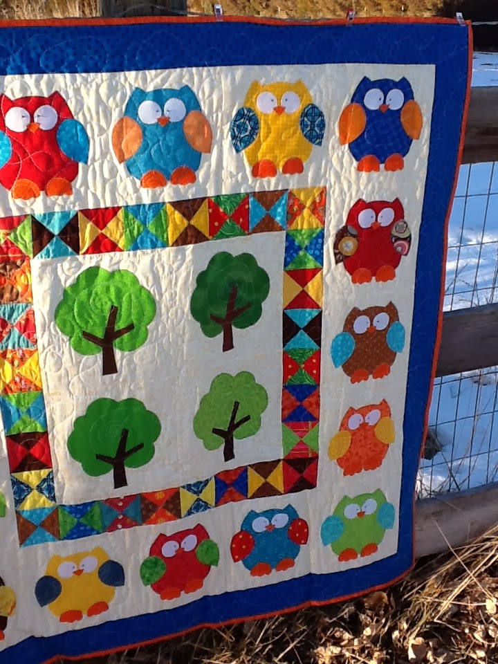Tanya Quilts In Co Owl Baby Quilt Finish