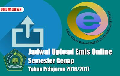 jadwal upload emis online tp 2016/2017