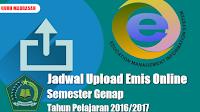 Jadwal Upload Emis Online Semester Genap Tahun Pelajaran 2016/2017