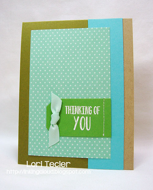 Thinking of You-designed by Lori Tecler-Inking Aloud-stamps and dies from Papertrey Ink