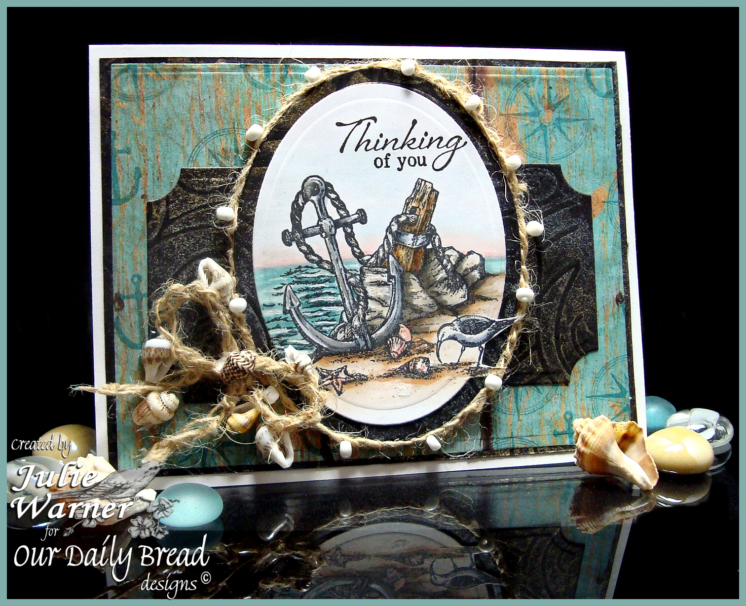 Stamps - Our Daily Bread Designs Anchor the Soul, Fishing Net Background, Smooth Sailing