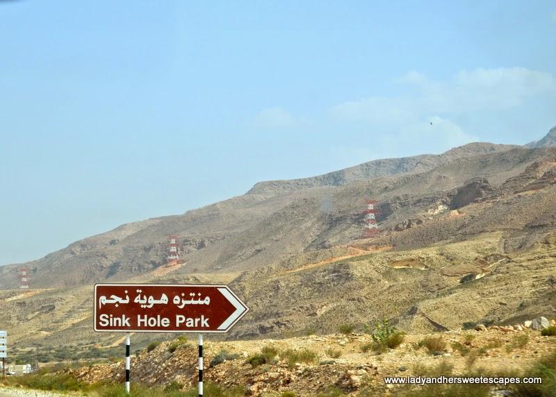 Sinkhole Park in Oman