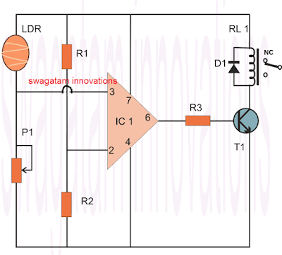simple comparator circuit using IC 741