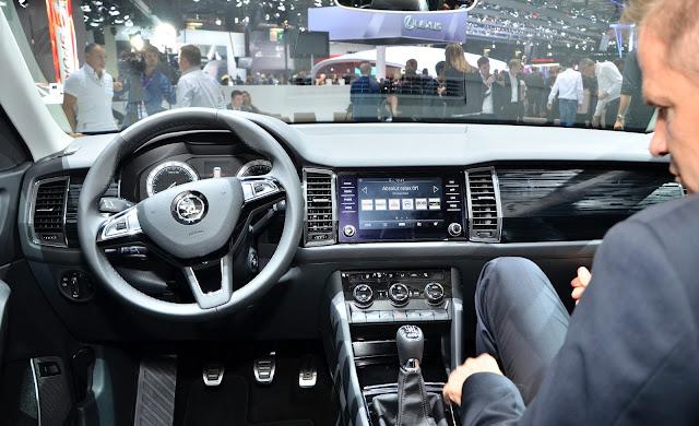 Interior del Skoda Kodiaq SUV 2017