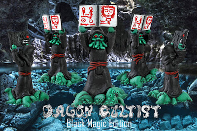 Designer Con 2016 Exclusive Black Magic Edition Dagon Cultist Resin Figure by Mikie Graham