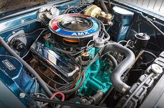 1968 AMC AMX Sports Coupe Engine