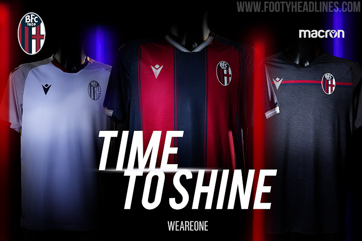 Bologna 20 21 Home Away Third Kits Released Footy Headlines