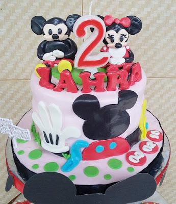 Kue Tart Fondant Mickey Mouse Club House