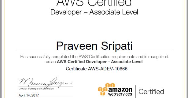 Big Data and Cloud Tips: Got through `AWS Certified Developer ...
