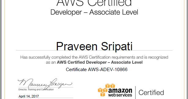 Big Data and Cloud Tips: Got through `AWS Certified