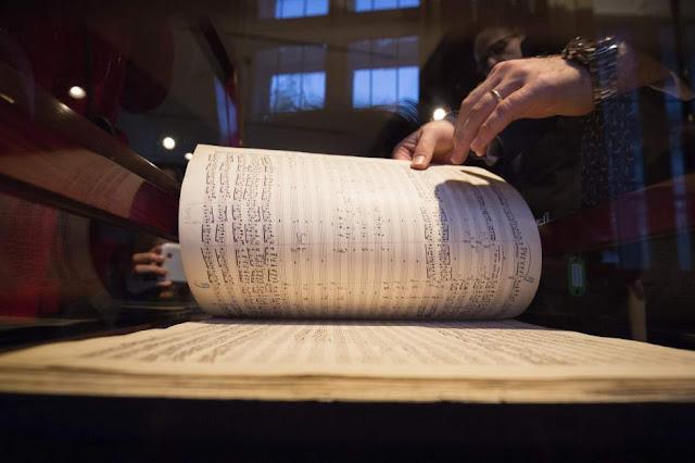 Partitura de la Sinfonía 'Resurrección' de Gustav Mahler