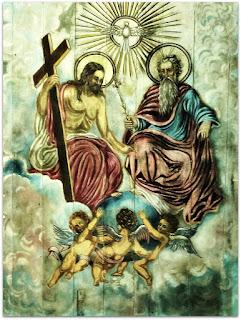 A Santíssima Trindade - Pintura Mural na Igreja Matriz Nossa Senhora da Conceição, Viamão