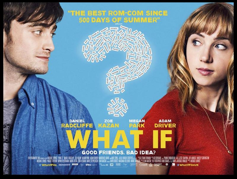 what if poster film daniel radcliffe & zoe kazan
